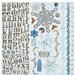 BoBunny - Whiteout Collection - 12 x 12 Cardstock Stickers - Combo