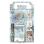 Bo Bunny - Whiteout Collection - Layered Chipboard Stickers