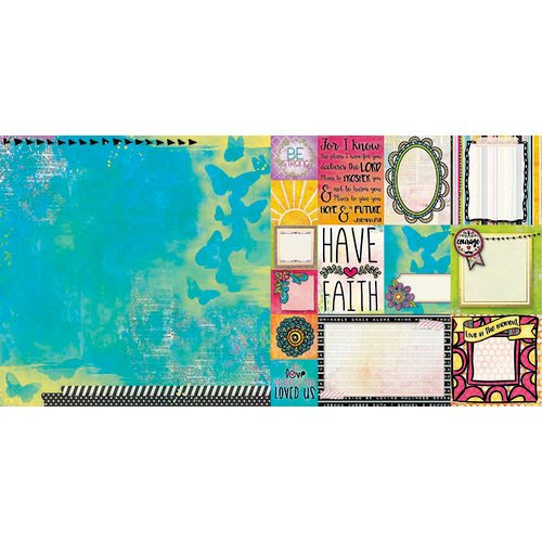 BoBunny - Believe Collection - 12 x 12 Double Sided Paper - Amen