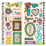 BoBunny - Believe Collection - Chipboard Stickers