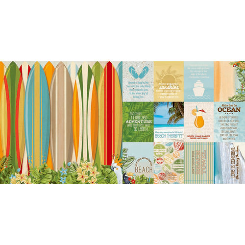 BoBunny - Beach Therapy Collection - 12 x 12 Double Sided Paper - Cruise