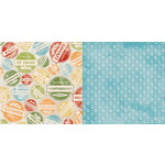 BoBunny - Beach Therapy Collection - 12 x 12 Double Sided Paper - Island Hop
