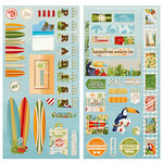 BoBunny - Beach Therapy Collection - Chipboard Stickers