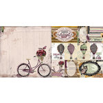 BoBunny - Beautiful Dreamer Collection - 12 x 12 Double Sided Paper - Bicycle