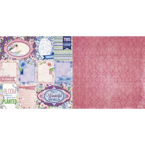 BoBunny - Secret Garden Collection - 12 x 12 Double Sided Paper - Lovely