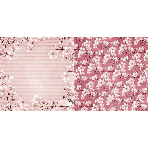 BoBunny - Secret Garden Collection - 12 x 12 Double Sided Paper - Wreath