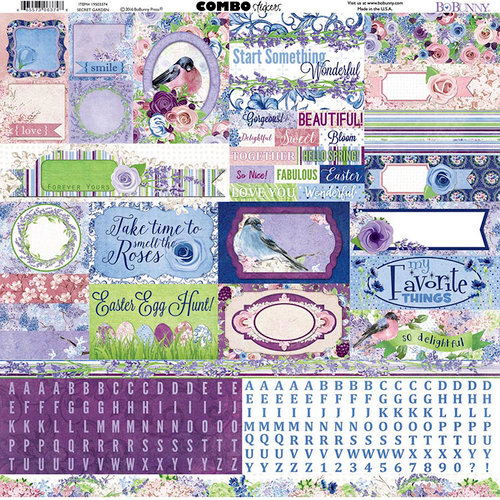 BoBunny - Secret Garden Collection - 12 x 12 Cardstock Stickers - Combo