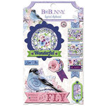 BoBunny - Secret Garden Collection - Layered Chipboard Stickers