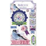BoBunny - Secret Garden Collection - Layered Chipboard Stickers