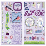 BoBunny - Secret Garden Collection - Chipboard Stickers