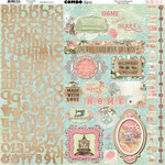 BoBunny - Soiree Collection - 12 x 12 Cardstock Stickers - Combo