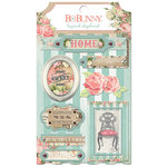 BoBunny - Soiree Collection - Layered Chipboard Stickers