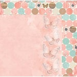 BoBunny - Butterfly Kisses Collection - 12 x 12 Double Sided Paper - Bliss