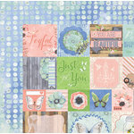 BoBunny - Butterfly Kisses Collection - 12 x 12 Double Sided Paper - Delight