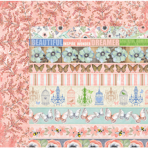 BoBunny - Butterfly Kisses Collection - 12 x 12 Double Sided Paper - Sunlit