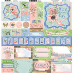 BoBunny - Butterfly Kisses Collection - 12 x 12 Cardstock Stickers - Combo