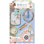 BoBunny - Butterfly Kisses Collection - Layered Chipboard Stickers