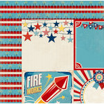 BoBunny - Firecracker Collection - 12 x 12 Double Sided Paper - Parade