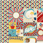 BoBunny - Firecracker Collection - 12 x 12 Double Sided Paper - Sparklers