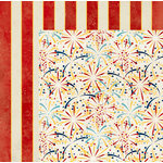BoBunny - Firecracker Collection - 12 x 12 Double Sided Paper - Stripe
