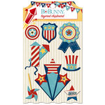 BoBunny - Firecracker Collection - Layered Chipboard Stickers