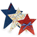BoBunny - Firecracker Collection - Wooden Star Trio Kit