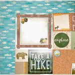 BoBunny - Take a Hike Collection - 12 x 12 Double Sided Paper - Fishing
