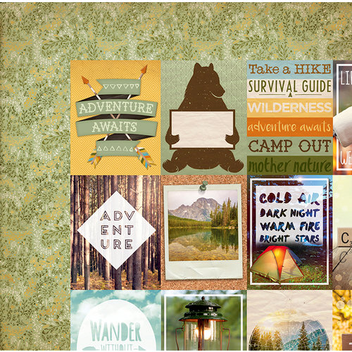 BoBunny - Take a Hike Collection - 12 x 12 Double Sided Paper - Trails