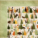 BoBunny - Take a Hike Collection - 12 x 12 Double Sided Paper - Trees