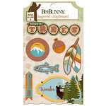 BoBunny - Take a Hike Collection - Layered Chipboard Stickers