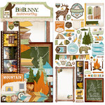 BoBunny - Take a Hike Collection - Noteworthy Journaling Cards