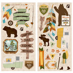 BoBunny - Take a Hike Collection - Chipboard Stickers