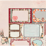BoBunny - Bella Rose Collection - 12 x 12 Double Sided Paper - Delicate