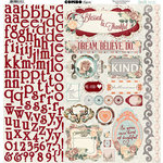 BoBunny - Bella Rose Collection - 12 x 12 Cardstock Stickers - Combo
