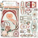 BoBunny - Bella Rose Collection - Noteworthy Journaling Cards