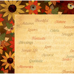 BoBunny - Farmers Market Collection - 12 x 12 Double Sided Paper - Gratitude