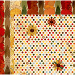 BoBunny - Farmers Market Collection - 12 x 12 Double Sided Paper - Sunflower