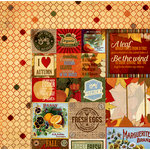 BoBunny - Farmers Market Collection - 12 x 12 Double Sided Paper - Thankful