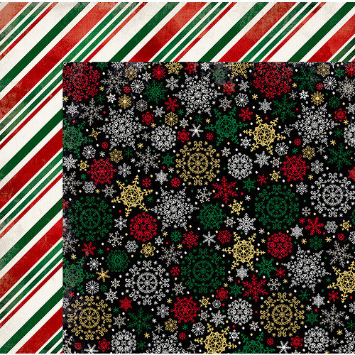 BoBunny - Merry and Bright Collection - Christmas - 12 x 12 Double Sided Paper - Blizzard