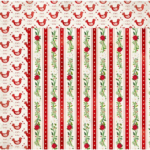 BoBunny - Merry and Bright Collection - Christmas - 12 x 12 Double Sided Paper - Peppermint