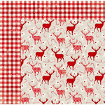 BoBunny - Merry and Bright Collection - Christmas - 12 x 12 Double Sided Paper - Reindeer Games