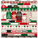 BoBunny - Merry and Bright Collection - Christmas - 12 x1 2 Cardstock Stickers - Combo