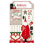 BoBunny - Merry and Bright Collection - Christmas - Layered Chipboard Stickers