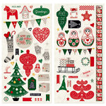 BoBunny - Merry and Bright Collection - Christmas - Chipboard Stickers