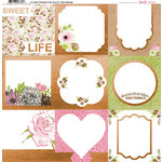 BoBunny - Sweet Moments Collection - 12 x 12 Vellum Paper with Foil Accents