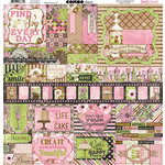 BoBunny - Sweet Moments Collection - 12 x 12 Cardstock Stickers - Combo