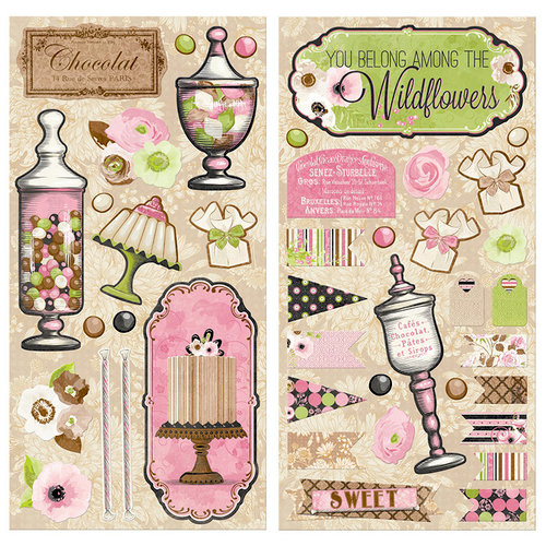 BoBunny - Sweet Moments Collection - Chipboard Stickers