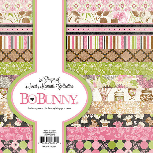 BoBunny - Sweet Moments Collection - 6 x 6 Paper Pad