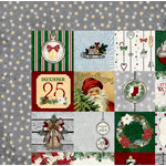 BoBunny - Tis The Season Collection - Christmas - 12 x 12 Double Sided Paper - Greetings