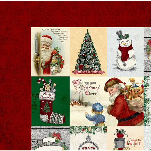 BoBunny - Tis The Season Collection - Christmas - 12 x 12 Double Sided Paper - Joy